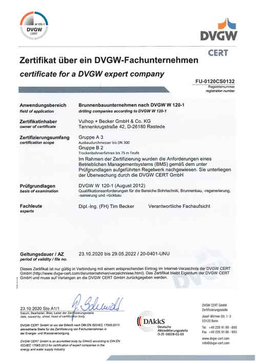 DVBG-Zertifikat
